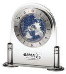 Custom Howard Miller Discoverer World Time Desk Clock w/ Revolving Map