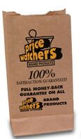 "6 Lb. Natural Kraft Paper Lunch Sack (5.75""x3.75x11"")"