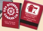 Custom 20 Strike Stock Color Reverse Print Matchbooks (White Ink & Red Board)