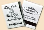Custom 20 Strike Stock Color Matchbooks (Black Ink & White Board)