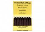 Custom 30 Strike Stock Color Reverse Print Matchbooks (White Ink & Red Board)