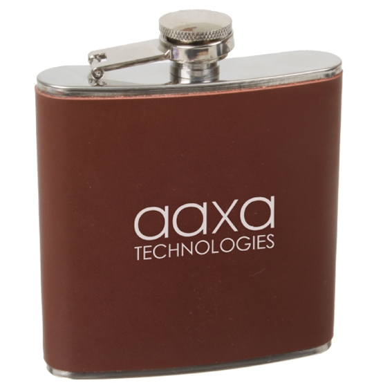 6 Oz. Leather Flask