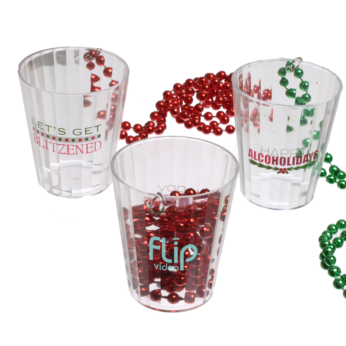 2 Oz. Xmas Shot Glasses