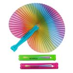 Custom Rainbow Folding Fan