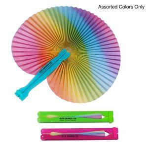 Rainbow Folding Fan