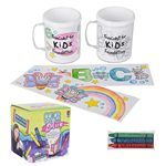 Custom Coloring Mug & Crayon Set