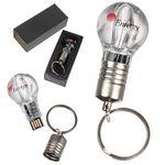 Custom Light Bulb USB Drive w/ Keychain - 128 MB