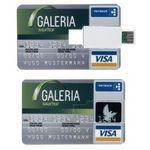 Custom Credit Card Size USB Drive - 512 MB