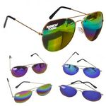 Custom Rainbow Aviators Sunglases