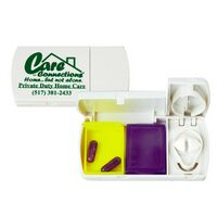 2 Color Pill Box w/Cutter