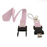 Custom Seat Belt Buckle USB Drive w/Lanyard - 4 GB