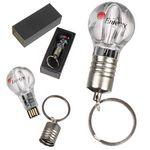 Custom Light Bulb USB Drive w/ Keychain - 1 GB