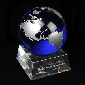 World Crystal 2 3/4 Globe Award