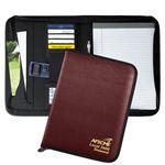 Custom Union Made in USA Tribeca Zipper Folder