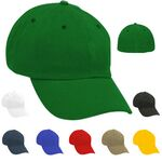 Custom Unstructured Solid Stretchfit Cap w/ Eyelets - Embroidered