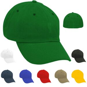 7b4eac9ce3a Unstructured Solid Stretchfit Cap w  Eyelets - Blank - 6CSUEE03 - Brilliant Promotional  Products