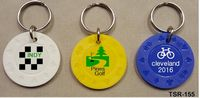 Poker Chips Key Ring Embossed Plastic Design