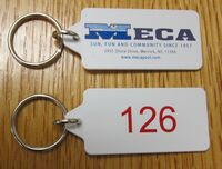 Pool Pass Key Ring - w/ 4 Color Process & Sequentially Numbered