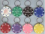 Poker Chips Key Ring Suited Design