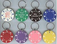 Poker Chips Key Ring Suited Design