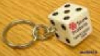 "Dice Keyring (19 mm to 3/4"")"