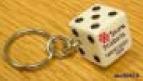 Custom Imprinted Lucky Dice Key Chains!