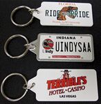 License Plate Key Rings