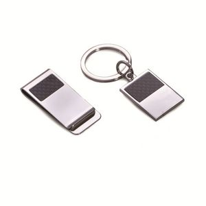 Silver Key Ring & Money Clip Set