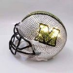 Custom Rhinestone Emblazond Mini Football Helmets