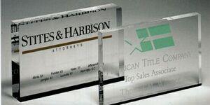 Mini Rectangle Paperweight Award (3x5)
