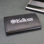 Custom Bostonian Leather Card Case Holder