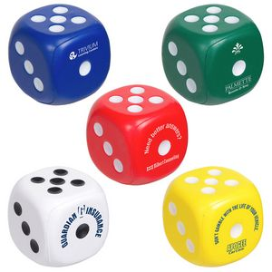 Custom Printed Dice Shaped Stress Relievers!