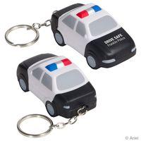 Police Car Stress Reliever Key Chain