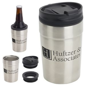 Carousal 12 oz Copper-Lined Tumbler + Can Cooler