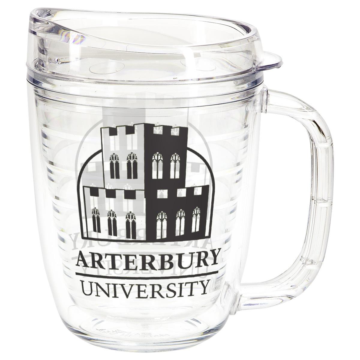 Lakeshore 12 oz Tritan Mug with Translucent Handle + Lid