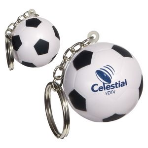 Custom Printed Soccer Ball Key Chains