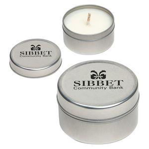 Custom Imprinted Tin Candles!