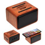 Custom Mahogany Wireless Speaker with Wireless Charger