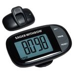 Custom Easy See Pedometer with Clock