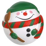 Custom Snowman Ball Stress Reliever