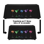 Custom Digital Convertible Throw Table Cover - 6ft/8ft -Standard Poly Fabric