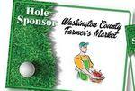 Hole Sponsor Golf Sign w/Golf Ball on Green (Horizontal, 18