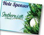 Hole Sponsor Golf Sign w/Golf Ball (Vertical, 12