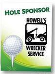 Hole Sponsor Golf Sign w/Golf Ball on Tee (Vertical, 18