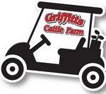 Die Cut Golf Sign w/Golf Cart