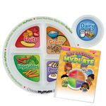 Custom MyPlate Preschool Portion Meal Plate With Educational Activities Book
