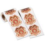 Custom Junior Firefighter Badge Stickers-On-A-Roll