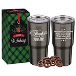 Custom 20-Oz. Thanks For All You Do! Stainless Steel To-Go Tumbler w/Treats in Holiday Gift Box