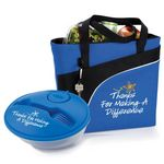 Custom Thanks For Making A Difference Harvard Lunch/Cooler Bag & On-The-Go Food Container Gift Set