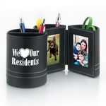 Custom We Love Our Residents Leatherette Desk Caddy